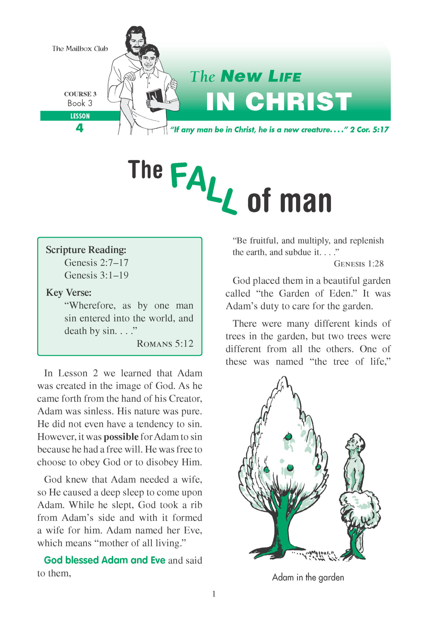 Lessons 4 & 5 - The Fall of Man - In Adam