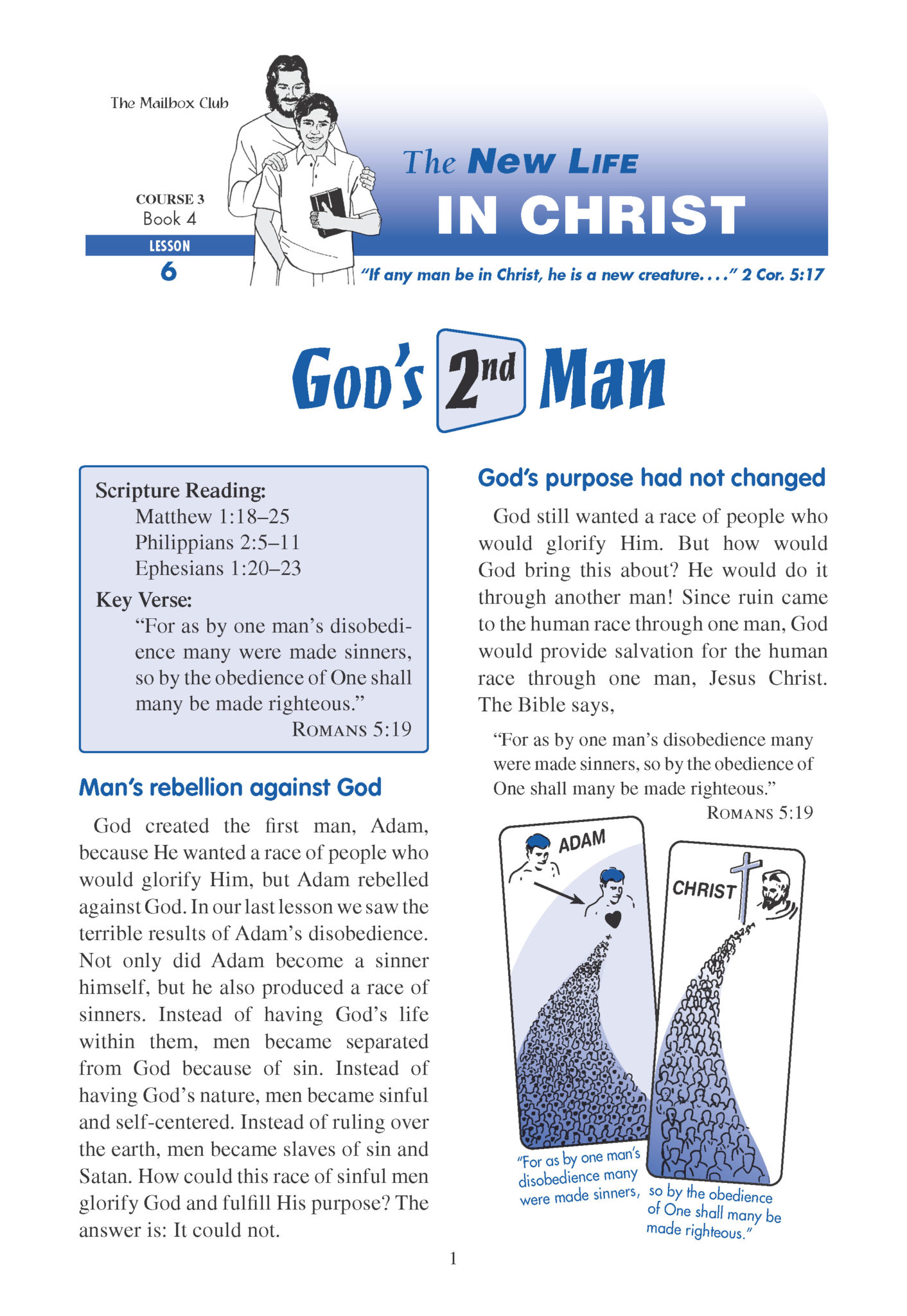 Lessons 6 & 7 - God's 2nd Man - The New Birth
