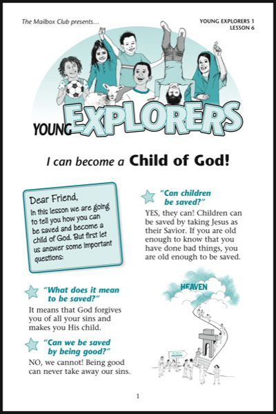 Lesson 6 - I can become a Child of God!