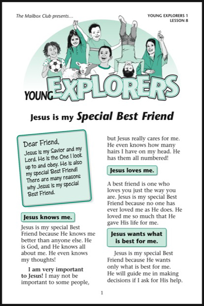 Lesson 8 - Jesus is my Special Best Friend